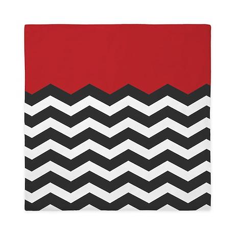 Red black and white chevron queen duvet jpg color white amp height 460