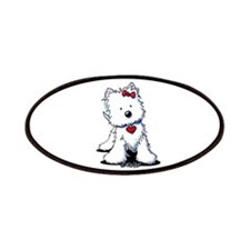 Westie Heart Girl Patches