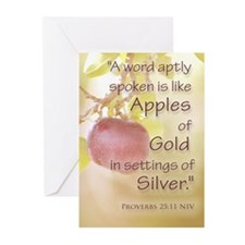 Apples of Gold Greeting Cards