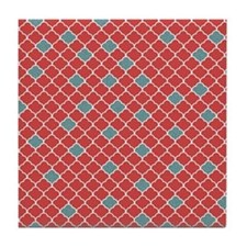 Moroccan Red and Blue Tile Coaster