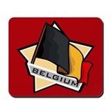 """Belgium Star Flag"" Mousepad"