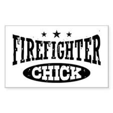 Firefighter Chick Decal