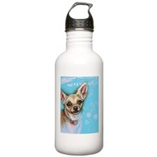 Hollywood Chihuahua flowers Water Bottle
