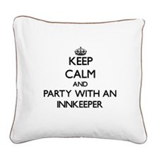 Keep Calm and Party With an Innkeeper Square Canva
