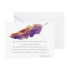 """Wisdom Feather"" Sympathy Cards (Pk of 10)"