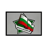"""Bulgaria Star Flag"" Rectangle Magnet (100 pack)"
