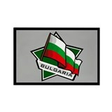 """Bulgaria Star Flag"" Rectangle Magnet"