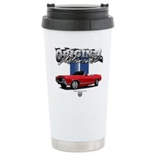 Musclecar Red Convertible Ceramic Travel Mug