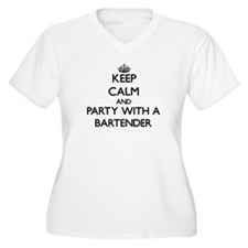 Keep Calm and Party With a Bartender Plus Size T-S