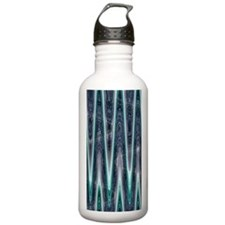 Teal Abstract Pattern Water Bottle