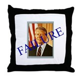 Jimmy Carter Failure Throw Pillow