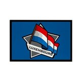 """Luxembourg Star Flag"" Rectangle Magnet (10 pack)"
