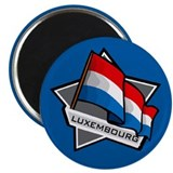"""Luxembourg Star Flag"" 2.25"" Magnet (100 pack)"