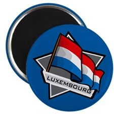 """Luxembourg Star Flag"" Magnet"