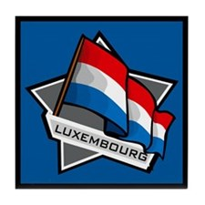 """Luxembourg Star Flag"" Tile Coaster"