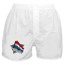 """Luxembourg Star Flag"" Boxer Shorts"