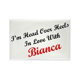 In Love with Bianca Rectangle Magnet