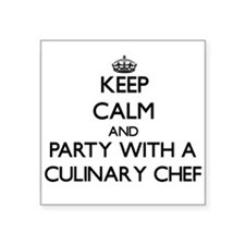 Keep Calm and Party With a Culinary Chef Sticker