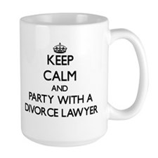 Keep Calm and Party With a Divorce Lawyer Mugs