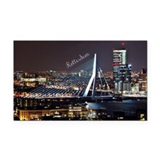 Rotterdam cityscape Rectangle Car Magnet