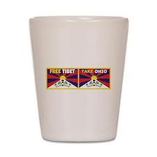 Free Tibet - Take Ohio Shot Glass