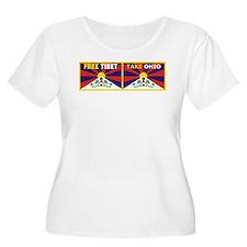 Free Tibet - Take Ohio Plus Size T-Shirt