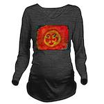 Sun Face Long Sleeve Maternity T-Shirt
