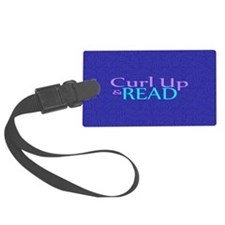 Curl Up and Read Luggage Tag