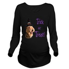 Airedale TerrierTrick.png Long Sleeve Maternity T-