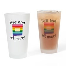 New Mexico live marry blk Drinking Glass