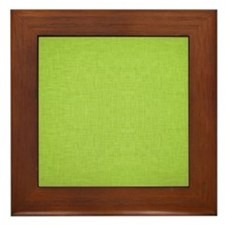 Green Linen Framed Tile