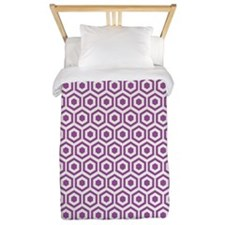 Purple Hexagon Honeycomb Twin Duvet