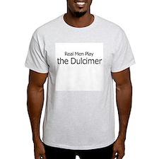Real Men Play Dulcimer Ash Grey T-Shirt