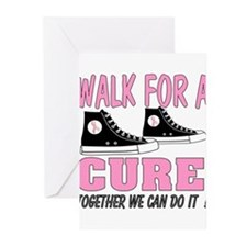 breast cancer walk t shirt Greeting Cards