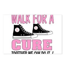 breast cancer walk t shirt Postcards (Package of 8
