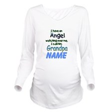 ANGEL CALLED GRANDPA Long Sleeve Maternity T-Shirt