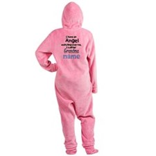 ANGEL CALLED GRANDMA CUSTOM Footed Pajamas