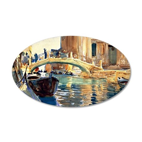 Sargent - Ponte San Giussepe 35x21 Oval Wall Decal