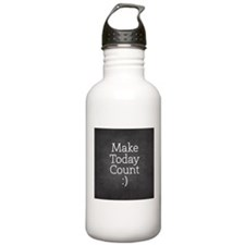 Chalkboard Make Today Count Water Bottle
