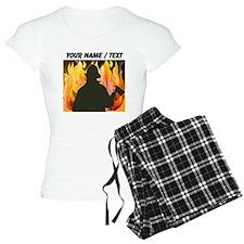 Custom Silhouetted Firefighter pajamas