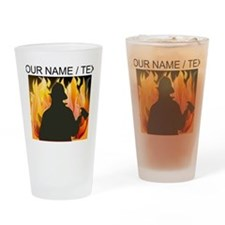 Custom Silhouetted Firefighter Drinking Glass
