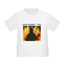 Custom Silhouetted Firefighter T-Shirt