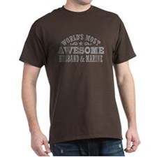 World's Most Awesome Husband and Marine T-Shirt