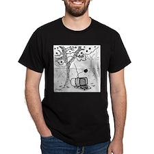 An Apple Falls on A Computer T-Shirt