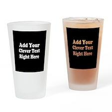 Add Text Background Black White Drinking Glass