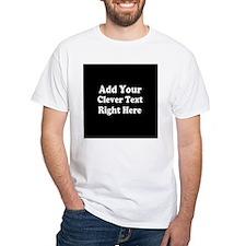 Add Text Background Black Shirt