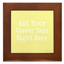 Add Text Background Lemon Yellow Framed Tile
