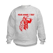 Custom Red Firefighter Sweatshirt