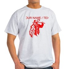 Custom Red Firefighter T-Shirt