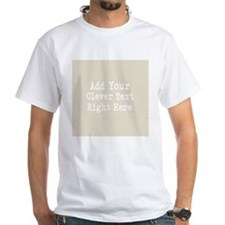 Add Text Background Gray T-Shirt
